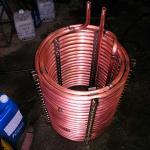 Serpentina de cobre para refrigeração